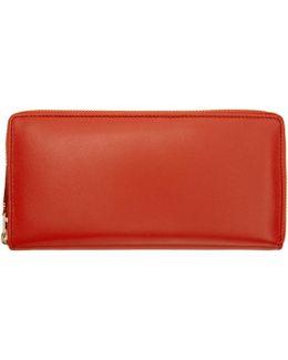 Orange Classic Continental Zip Wallet