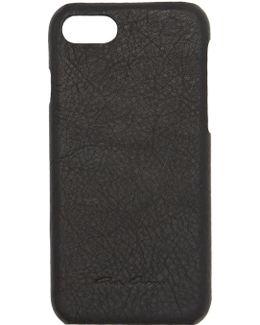 Black Leather Iphone 7 Case