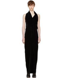 Black Velvet Limo Dress