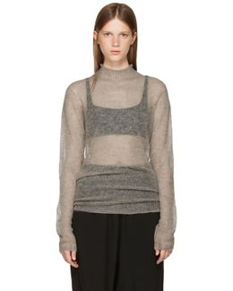 Grey Soft Lupetto Pullover