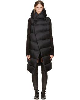 Black Sleeveless Down Liner Jacket