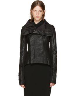 Black Leather Naska Biker Jacket