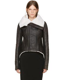 Black Shearling Naska Biker Jacket