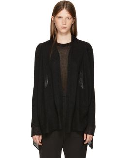 Black Medium Wrap Cardigan