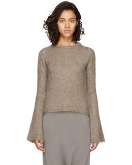 Beige Mohair Sweater