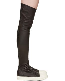 Black Stocking Sneak Tall Boots