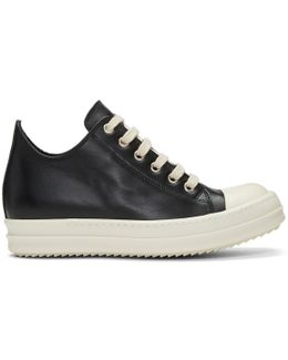Black Leather Low Sneakers