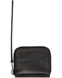 Black Zipped Card Holder