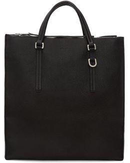 Black Edith Vertical Shopper Tote