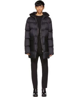 Black Down Hooded Coat