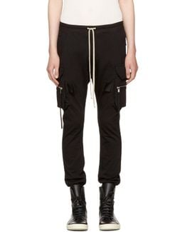 Black Cargo Jog Pants