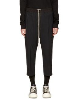Black Drawstring Cropped Astaires Lounge Pants