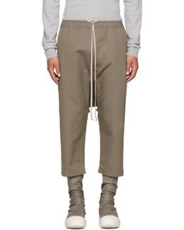 Grey Cropped Drawstring Trousers