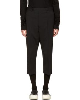 Black Cropped Astaires Trousers