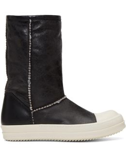 Black Shearling Boots