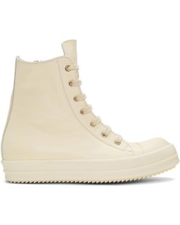 Off-white Leather High-top Sneakers