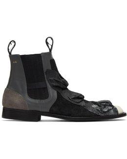 Black Bows Chelsea Boots