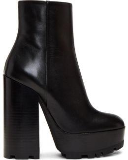 Black Plotter Platform Boots