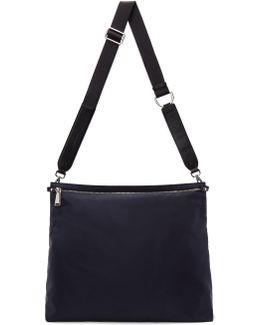 Navy Nylon Messenger Bag