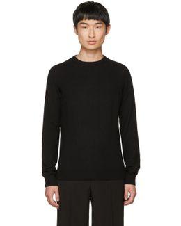 Black Cashmere Crewneck Sweater