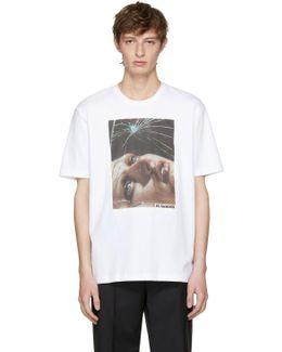 White Ad Print T-shirt