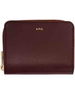Burgundy Compact Wallet