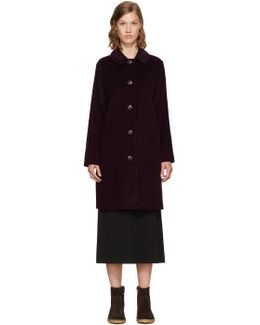 Burgundy Corduroy Lili Coat