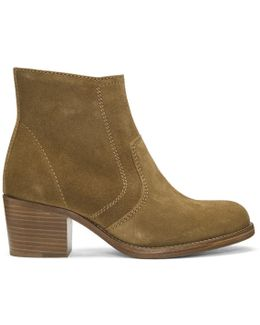 Tan Suede Anna Boots
