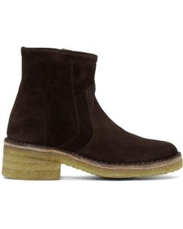 Brown Suede Armelle Boots