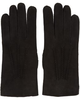 Black Leather Axel Gloves