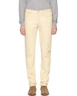 Beige Petit New Standard Jeans