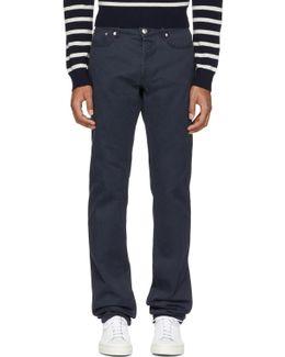 Navy Petit Standard Jeans