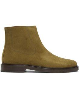 Beige Suede Leonard Boots