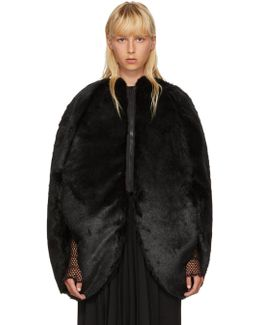 Black Faux-fur Coat