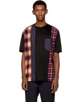 Black Multi Check T-shirt
