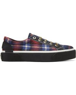 Multicolor Check Oxford Sneakers