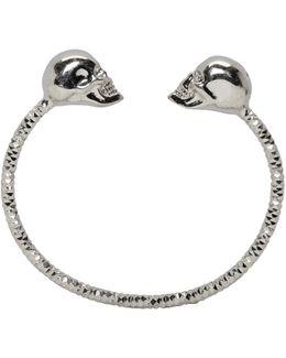 Silver Twin Skull Bracelet