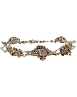 Silver Skull & Skeleton Bracelet