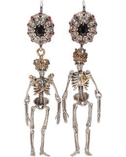 Jewelled Skeleton Earrings
