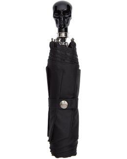 Black Collapsible Skull Umbrella