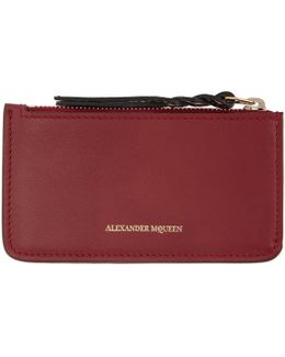 Red Leather Coin Pouch