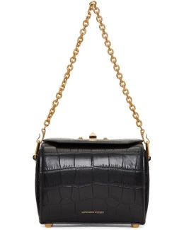Black Croc Box '19' Bag