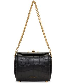 Black Croc Box '15' Bag