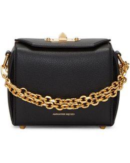 Black Leather Box 15 Bag