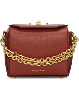 Red Leather Box 15 Bag