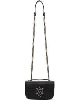 Black Small Insignia Chain Satchel