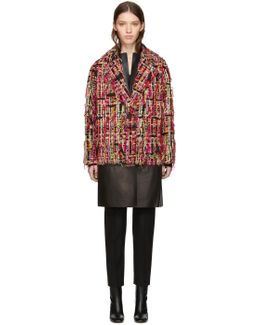 Multicolor Tweed Wishing Tree Cocoon Coat