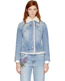 Blue Shearling Denim Jacket