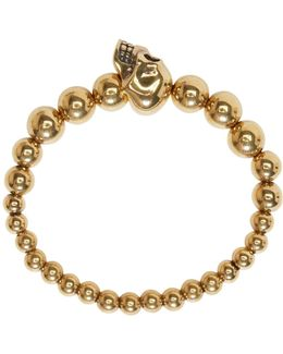 Gold Skull Multibeaded Bracelet