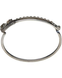 Silver Safety Pin Bracelet